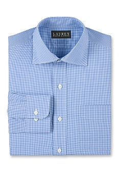 Lauren Ralph Lauren Dress Shirt Non-Iron Slim-Fit Micro-Check Pocket Cotton Dress Shirt<br>