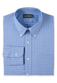 Lauren Ralph Lauren Dress Shirt Classic-Fit Glen Plaid Dress Shirt
