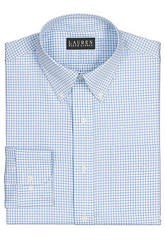Lauren Ralph Lauren Dress Shirt Non-Iron Slim-Fit Tattersall Cotton Twill Dress Shirt
