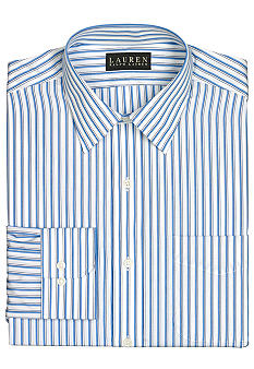Lauren Ralph Lauren Dress Shirt Non-Iron Classic-Fit Bennett Striped Cotton Broadcloth Dress Shirt