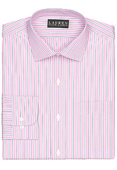 Lauren Ralph Lauren Dress Shirt Slim-Fit Striped Cotton Broadcloth Dress Shirt
