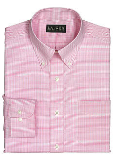 Lauren Ralph Lauren Dress Shirt Non-Iron Classic-Fit Checked Cotton Broadcloth Dress Shirt