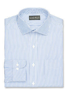 Lauren Ralph Lauren Dress Shirt Classic-Fit Striped Cotton Broadcloth Dress Shirt