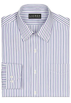 Lauren Ralph Lauren Dress Shirt Non-Iron Slim-Fit Bennett Striped Cotton Broadcloth Dress Shirt