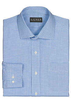Lauren Ralph Lauren Dress Shirt Non-Iron Slim-Fit Warren Tattersall Cotton Broadcloth Dress Shirt