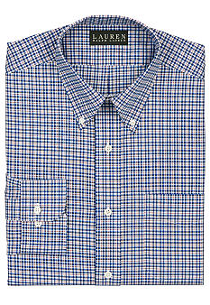 Lauren Ralph Lauren Dress Shirt Classic-Fit Checked Cotton Broadcloth Dress Shirt