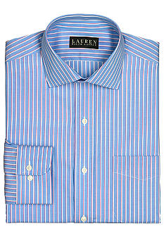Lauren Ralph Lauren Dress Shirt Classic-Fit Warren Striped Cotton Broadcloth Dress Shirt