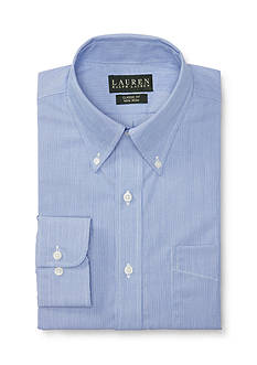 Lauren Ralph Lauren Dress Shirt Classic-Fit Striped Broadcloth Dress Shirt