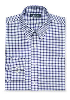 Lauren Ralph Lauren Dress Shirt Classic-Fit Checked Twill Dress Shirt