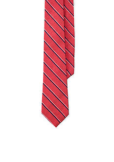 Lauren Ralph Lauren Striped Silk-Linen Tie
