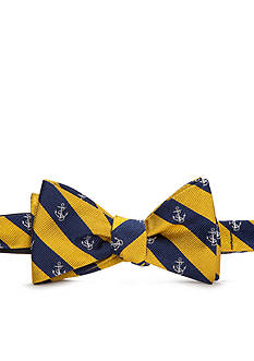 Lauren Ralph Lauren Neckwear Self-Tie Anchor Stripe Bow Tie