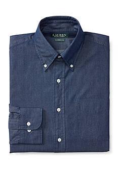 Lauren Ralph Lauren Classic-Fit Denim Dress Shirt