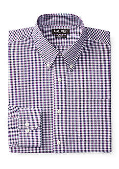 Lauren Ralph Lauren Slim-Fit Gingham Stretch Dress Shirt