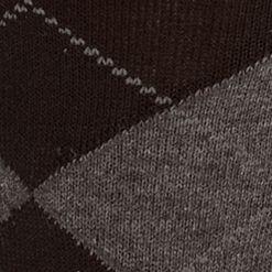 Mens Casual Socks: Black Saddlebred Argyle Dress Sock