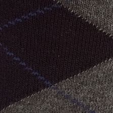 Saddlebred®: Navy Saddlebred Argyle Dress Sock