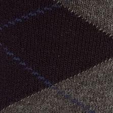 Mens Casual Socks: Navy Saddlebred Argyle Dress Sock