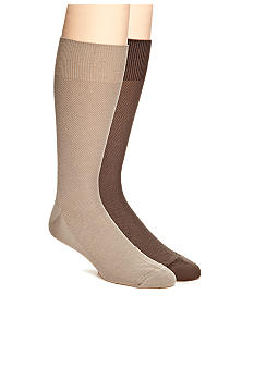 Saddlebred Textured Dobby Bamboo Dress Socks - Single Pair