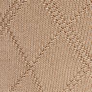 Mens Casual Socks: Khaki Saddlebred Diamond Textured Dress Socks - Single Pair