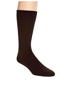 Saddlebred Textured Grid Bamboo Dress Socks - Single Pair