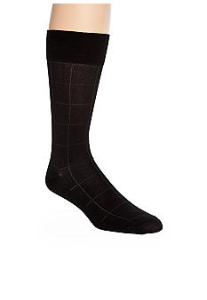 Saddlebred® Windowpane Cotton Dress Socks - Single Pair