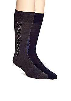 Saddlebred Clocking Argyle Dress Socks - Single Pair