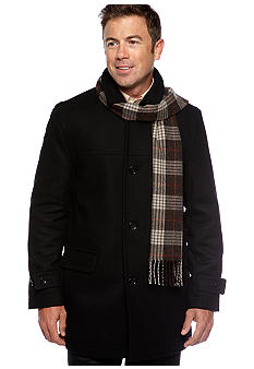 London Fog® Wool Scarf Coat