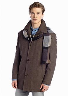 London Fog Wool Coat with Scarf