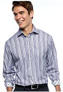 Thomas Dean Multi-Color Stripe Sport Shirt