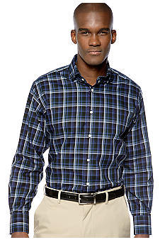 Thomas Dean Plaid Sport Shirt
