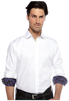 Thomas Dean Solid Sport Shirt