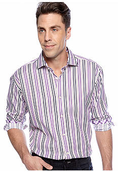 Thomas Dean Multi-Stripe Sport Shirt