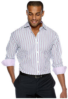 Thomas Dean Stripe Sport Shirt