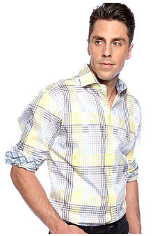 Thomas Dean Check Sport Shirt