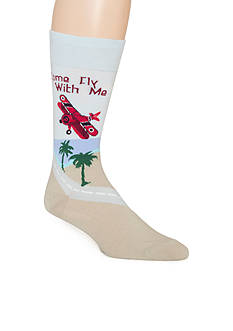 Tommy Bahama Come Fly With Me Crew Socks - Single Pair