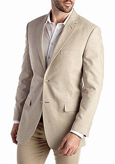 Saddlebred Classic-Fit Tan Chambray Sport Coat