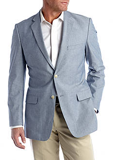 Saddlebred Classic-Fit Blue Chambray Sport Coat
