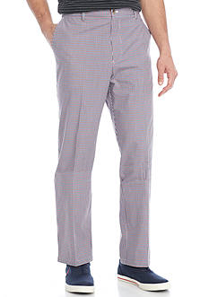 Saddlebred Flat Front Plaid Pants