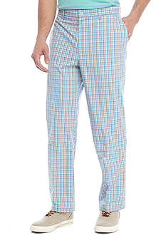 Saddlebred Flat Front Gingham Pants