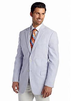 Saddlebred Big & Tall Classic-Fit Blue Seersucker Sport Coat