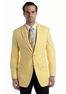 Saddlebred Classic-Fit Yellow Chambray Sport Coat