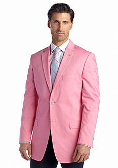 Saddlebred Classic-Fit Bright Pink Chambray Sport Coat