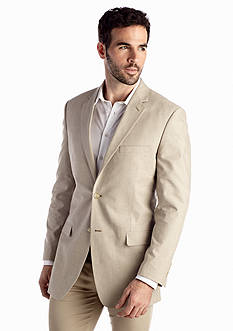 Saddlebred Big & Tall Classic-Fit Tan Chambray Sport Coat
