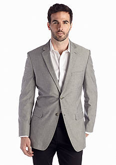 Saddlebred Big & Tall Classic-Fit Gray Chambray Sport Coat