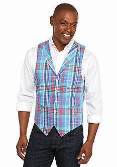 Saddlebred Blue Pink Lavender Plaid Vest