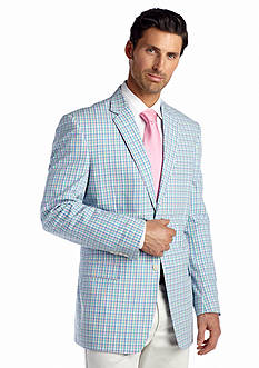 Saddlebred Classic-Fit Mini Pastel Check Sport Coat