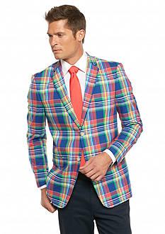 Saddlebred Classic-Fit Bright Summer Plaid Sport Coat