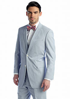 Saddlebred Classic-Fit Blue Pinfeather Stripe Suit Coat
