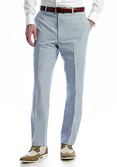 Saddlebred Classic-Fit Blue Pinfeather Stripe Suit Pants