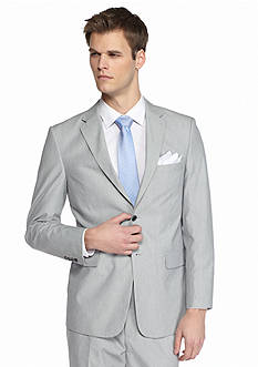 Saddlebred Classic-Fit Gray Pinfeather Stripe Suit Separate Coat