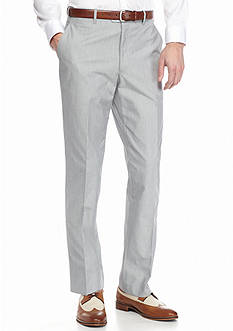 Saddlebred Classic-Fit Gray Pinfeather Stripe Suit Separate Pants